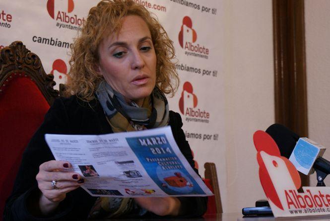 Marta Nievas, durante la presentación de la programación cultural de marzo.