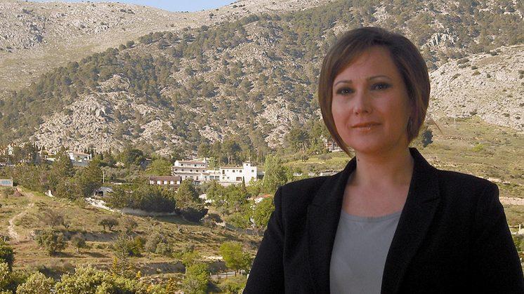 La alcaldesa saliente, María José Pino. Foto: AG