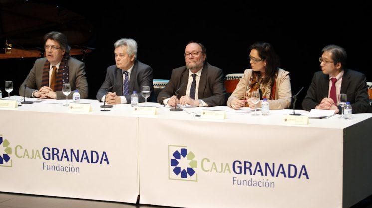 Representantes del BMN, UGR, Diputación, Ayuntamiento y Fundación Japón. Foto; Álex Cámara