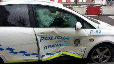 Heridos tres agentes y dañados nueve coches tras una persecución en el entorno de la avenida Constitución