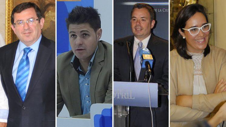 Los granadinos que serán coordinadores del PP-A, de izquierda a derecha: Luis González, Erik Escobedo, Nicolás Navarro y María Francés. Foto: Archivo
