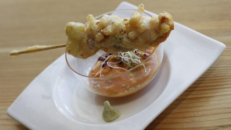 La tapa de Saffron, teriyaki de pollo. Foto: Álex Cámara