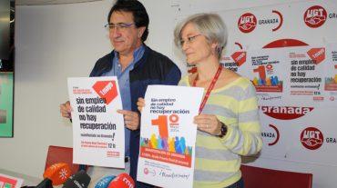 UGT y CCOO celebran en Granada el acto central del 1º de Mayo en Andalucía