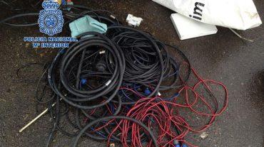 Detenidas tres personas por sustraer más de 100 metros de cableado público