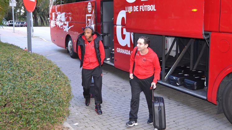 El Granada volverá a coger el autobús para marcharse concentrado a Marbella. Foto: GCF