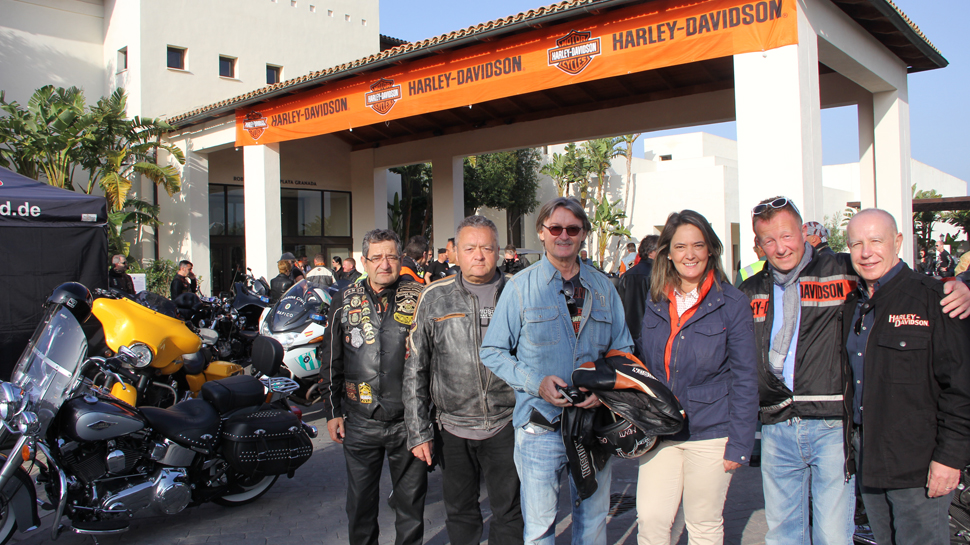 Motril da la salida a la caravana de Harley Davidson que recorrerá la provincia