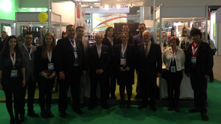 La Diputación participa en la feria Alimentaria 2014  acompañando a quince empresas y representantes de las nueve denominaciones de origen de la provincia