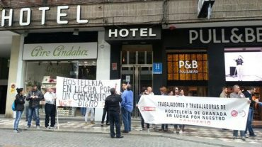 Continúan las movilizaciones de los hosteleros en defensa de su convenio colectivo