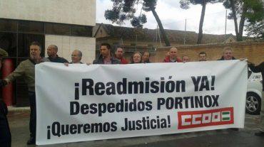 Trabajadores de Portinox solicitan ante el juez la nulidad de sus despidos