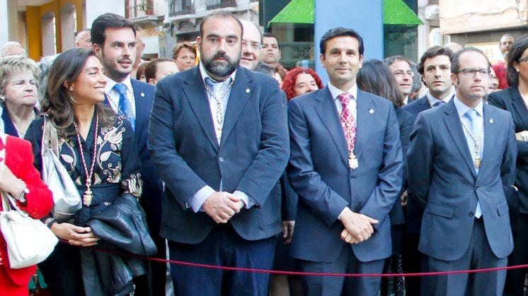 De izquierda a derecha: Mayte Olalla (UPyD), Francisco Puentedura (IU), Francisco Cuenca (PSOE) y Francisco Ledesma (PP). Foto: Álex Cámara