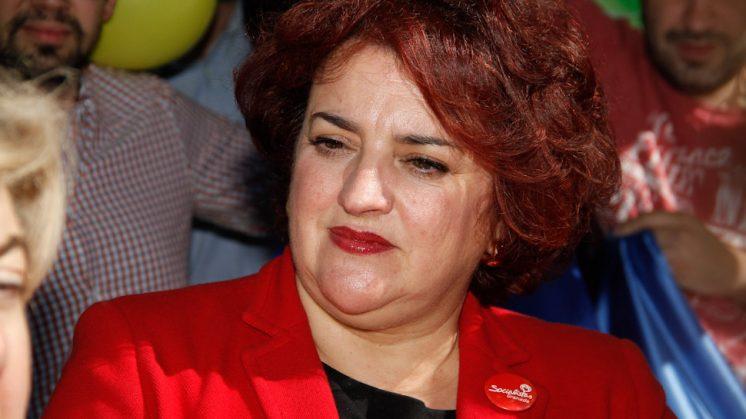 La secretaria general de los socialistas granadinos, Teresa Jiménez. Foto: Álex Cámara