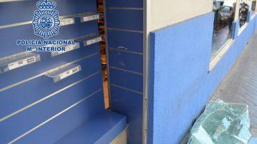 Detenidos 'in fraganti' dos aluniceros acusados de asaltar cinco comercios