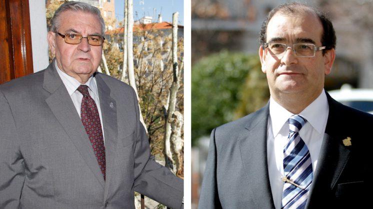 Antonio Martín (d) y Jesús Muros (i), los dos únicos candidatos. Fotos: Álex Cámara (archivo)