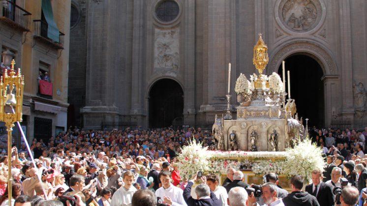 Imagen de archivo de la procesión del pasado año. Foto: Álex Cámara