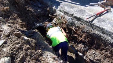 El Ayuntamiento de Huétor Vega arregla los daños en la acequia de La Estrella