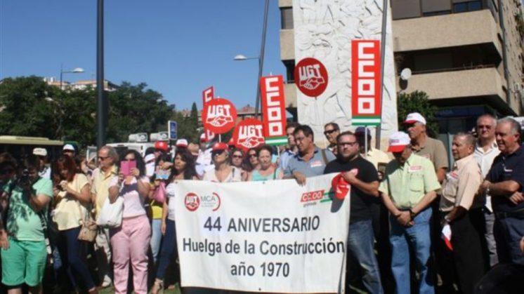 Homenajean a los tres obreros asesinados en la huelga de la construcción de 1970