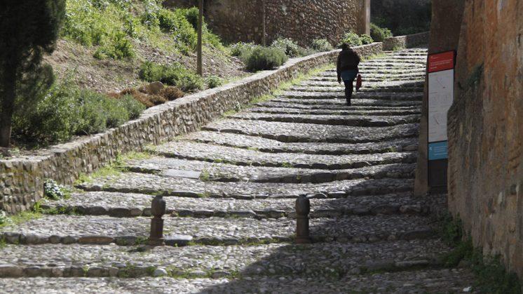 La Cuesta de los Chinos de Granada capital. Foto: Álex Cámara