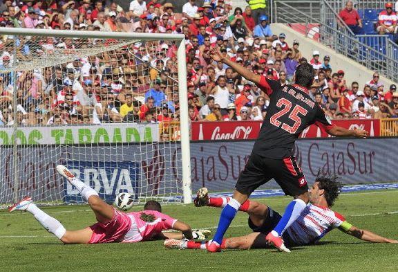 El Granada se midió al Deportivo hace dos temporadas en Los Cármenes. Foto: LFP
