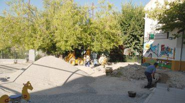 Comienzan las obras de renovación del parque infantil del colegio de Güéjar Sierra