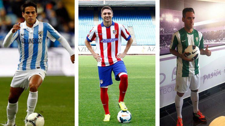 Recio, Siqueira y Abel Gómez son tres de los futbolistas que guardan buenos recuerdos de Granada. Fotos: Webs oficiales