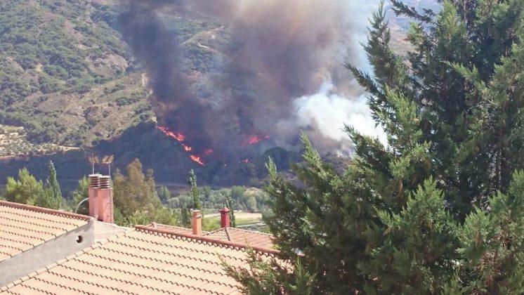 Imágenes desde una de las viviendas más próximas. Fotos: Sonia Martín