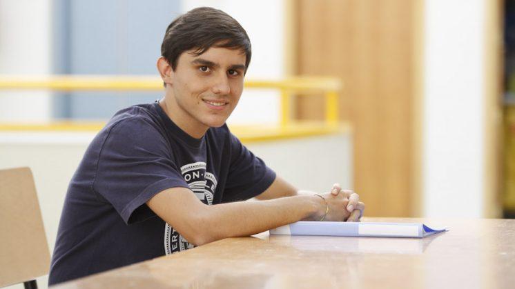 Guillermo Sánchez estudiará Matemáticas en Granada. Foto: Álex Cámara