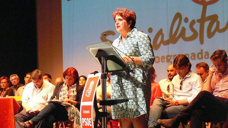 La secretaria general del PSOE de Granada, Teresa Jiménez. Foto: aG