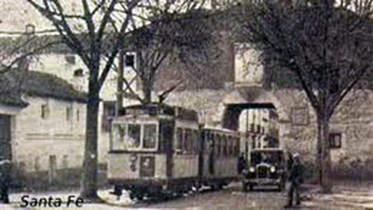 El tranvía a Santa Fe fue un hito histórico en la localidad. Foto: aG