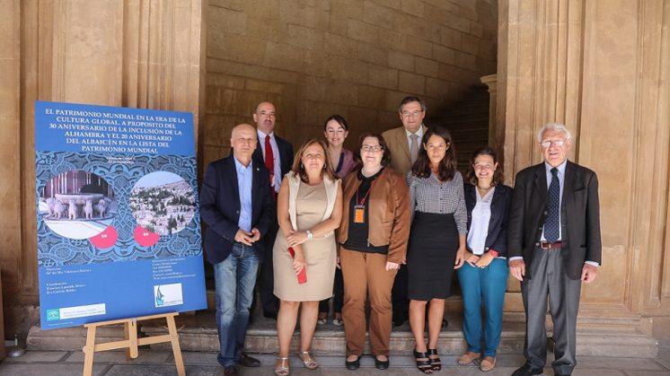 Inauguración del curso dedicado a la conmemoración del 30 aniversario de la declaración de la Alhambra y Generalife como Patrimonio Mundial y el 20º del Albaicín. Foto: aG.