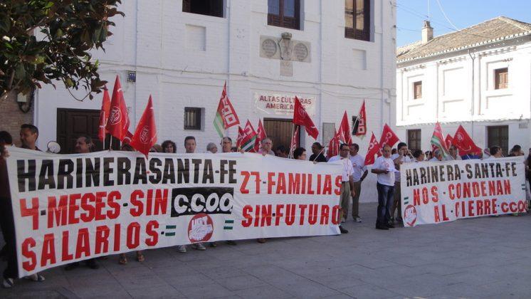 Los trabajadores llevarán a cabo más acciones hasta conseguir su objetivo. Foto: Noelia S. Lorca