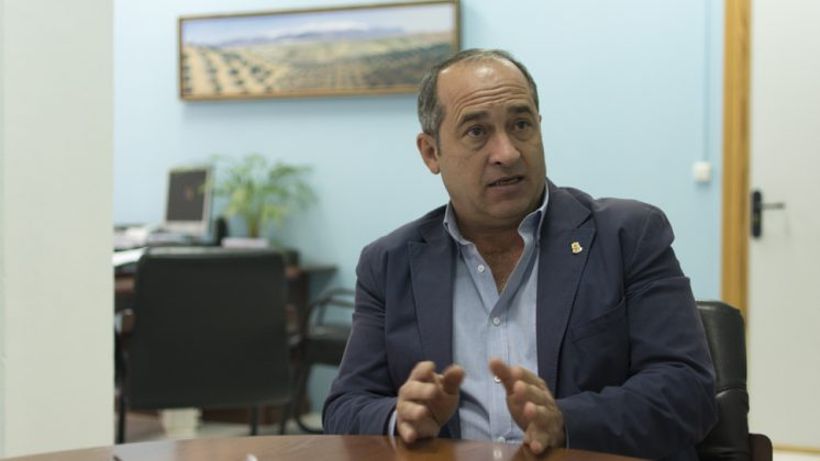 José Aranda, en uno de los momentos de la entrevista. Foto: Alberto Franco