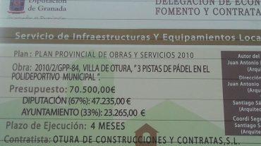 """IU de Otura considera """"indecente"""" la adjudicación de unas obras a la empresa del presidente del PP"""