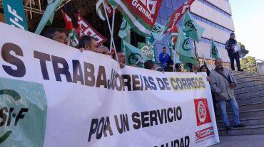 CCOO se moviliza contra la flexibilización, la desresgulación y los recortes propuestos por Correos