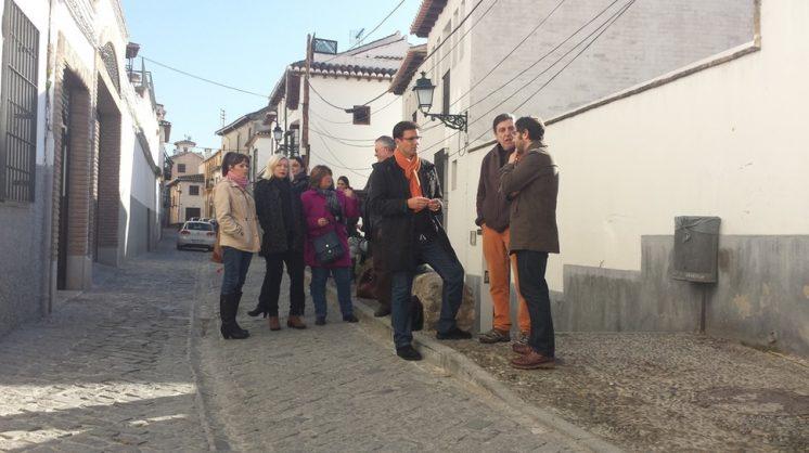 Visita de los concejales socialistas a San Juan de los Reyes. Foto: aG