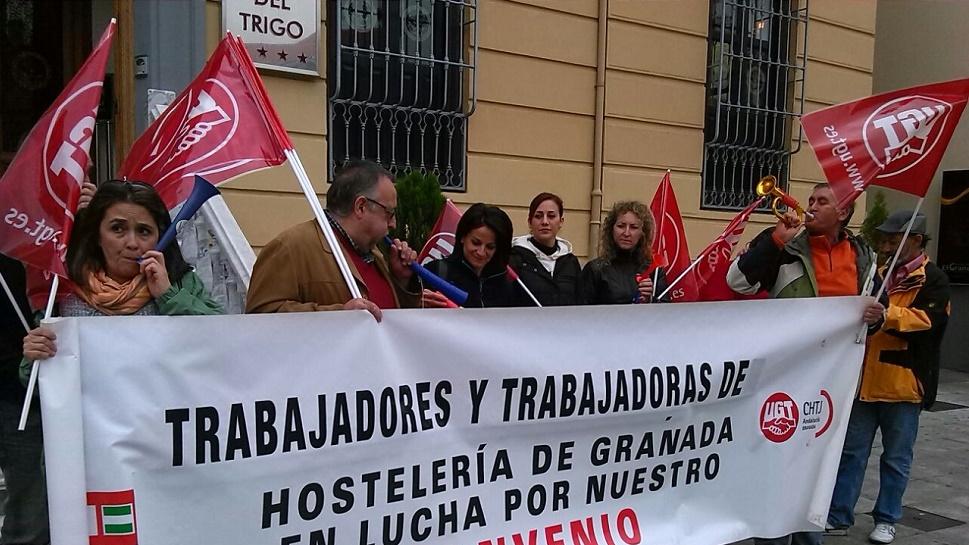 Continúan las movilizaciones para reclamar una negociación justa del Convenio de Hostelería de Granada