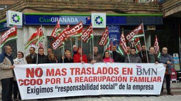 Protesta por el desmantelamiento de la oficina de gestores agrarios de BMN