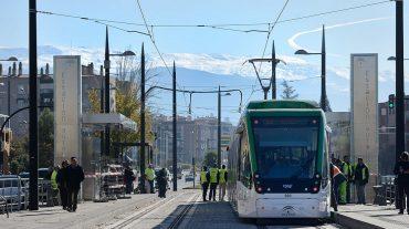 Reanundan las pruebas del Metro de Granada y se amplía el recorrido hasta la estación de autobuses