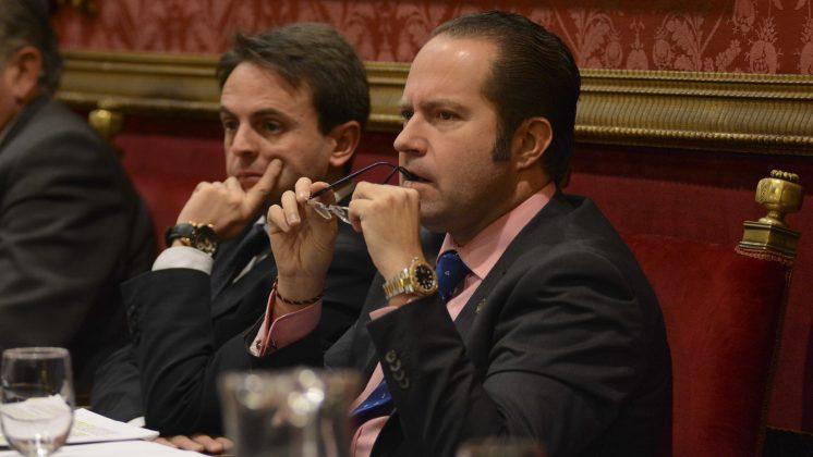 El edil de Economía, Francisco Ledesma, durante la intervención en el pleno de debate de las cuentas. Foto: Alberto Franco