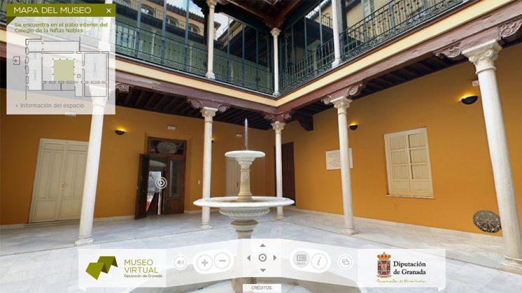El museo virtual de la Diputación de Granada permite visitar de forma interactiva la instalación. Foto: Web Oficial