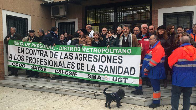 La concentración se ha desarrollado en la mañana de este jueves. Foto: Luis F. Ruiz