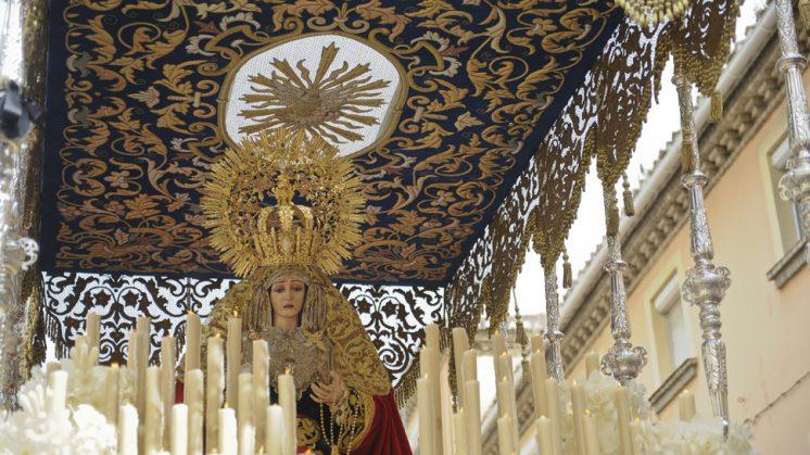 Nuestra Señora de la Luz, de la Hermandad del Trabajo. Foto: Alejandro Romero ©