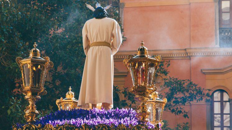 Jesús Cautivo, sobre su paso en su salida, en el último año que lo hará antes de la reforma. Foto: Antonio Ropero