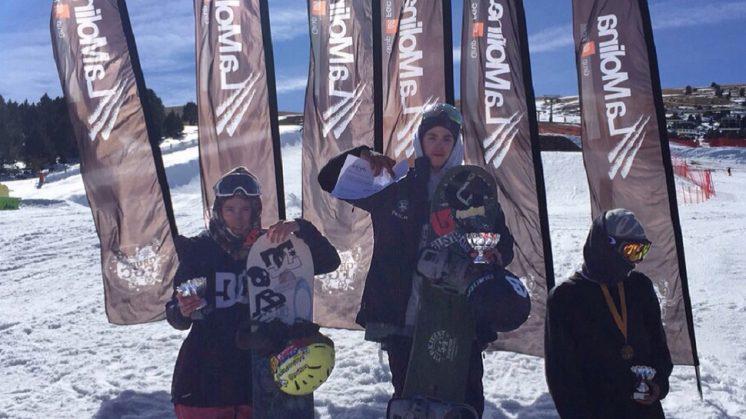 Victoria granadina en la Copa de España de Snowboard