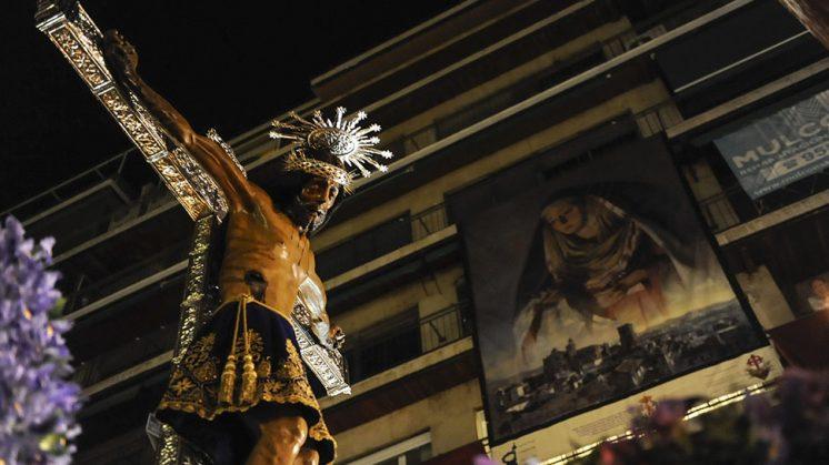 San Agustín impuso el silencio en cada rincón por el que pasó. Foto: Alejandro Romero