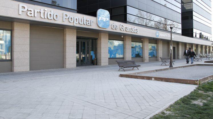 La sede del PP está ubicado en el barrio del Zaidín. Foto: Álex Cámara (archivo)