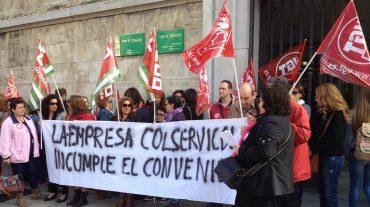 Trabajadores de Col Servicol reclaman a Educación que exija a la empresa que cumpla con el Convenio de Hostelería
