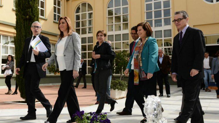 La presidenta en funciones ha ha visitado el centro. Foto: aG.