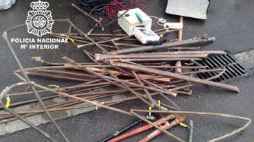 Detenido acusado de sustraer material de cobre de una casa en construcción