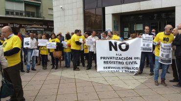 CCOO se moviliza contra la privatización del Registro Civil