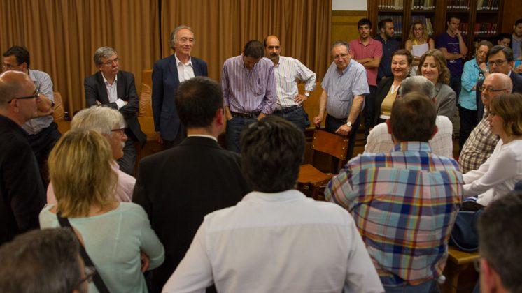 Sánchez-Montesinos ha seguido el recuento en la Facultad de Medicina. Foto: Antonio Ropero.